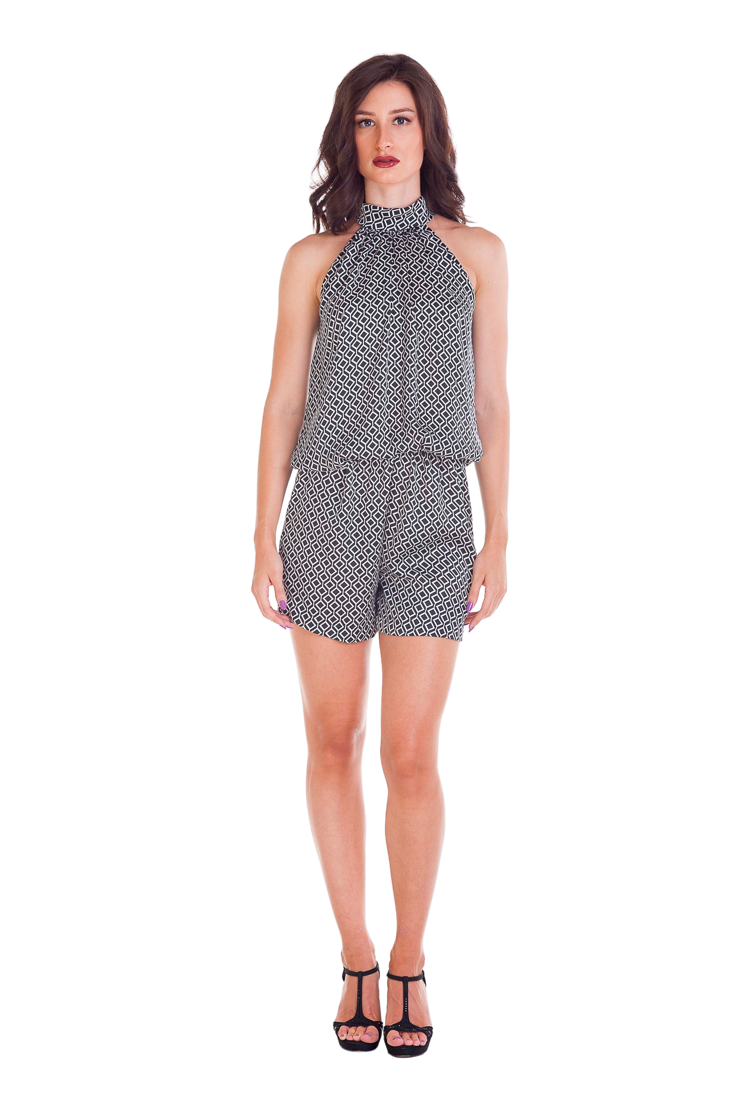 Optical Short Jumpsuit - Scalzi&Pareati