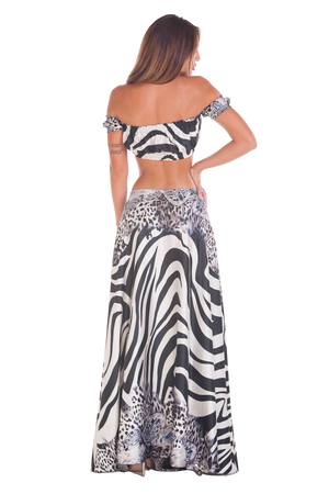 Silver Zebra Pareo Outfit