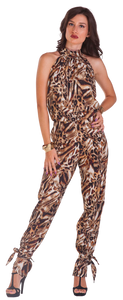 Leopard Long Jumpsuit