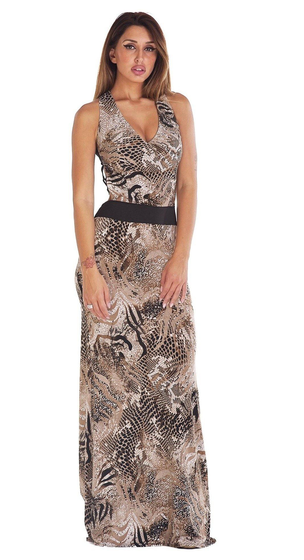 Animalier Long Dress