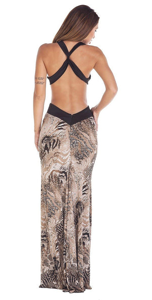 Animalier Long Dress - Scalzi&Pareati