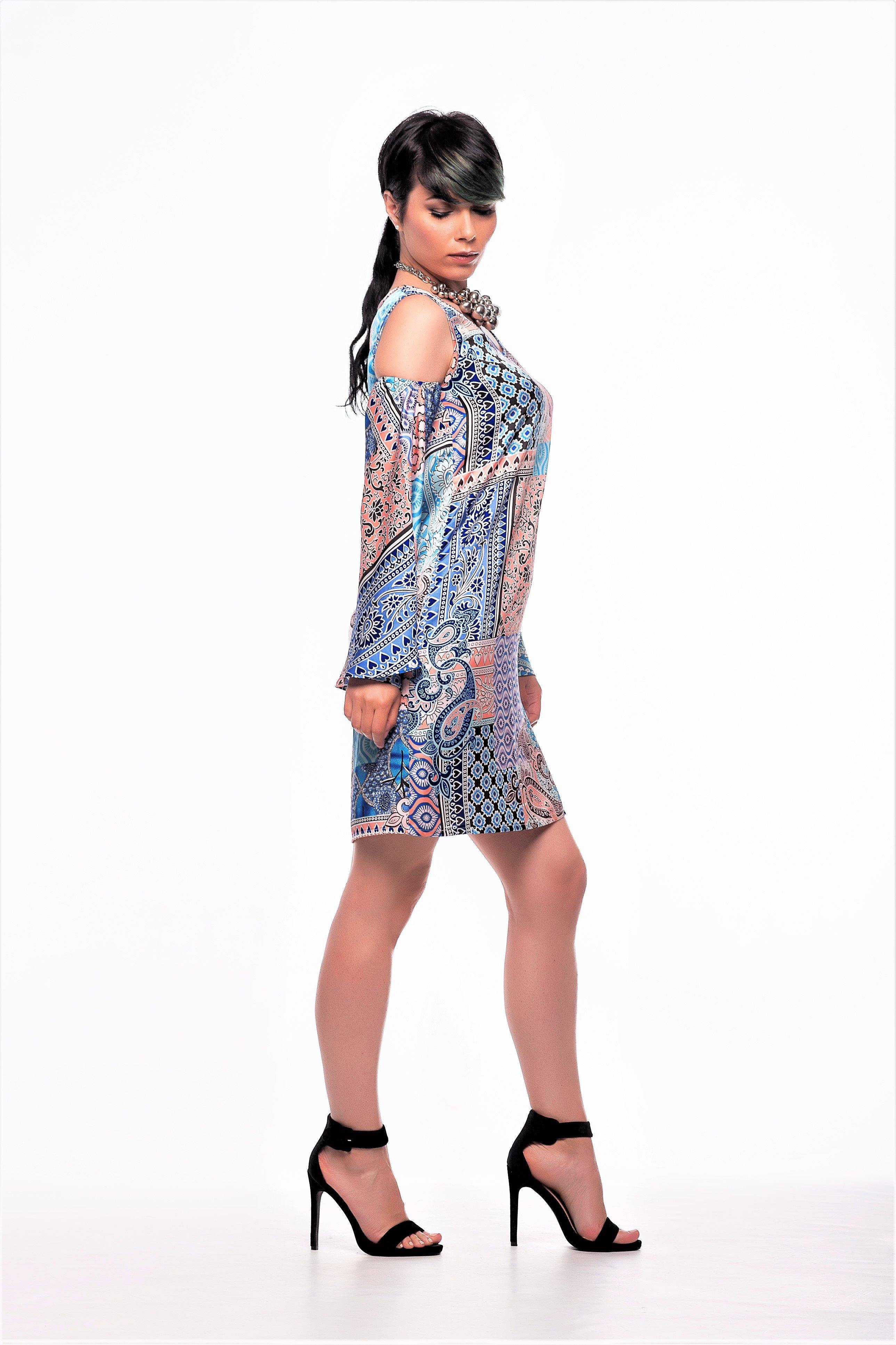 Indian Blue Minidress
