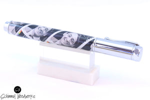 Handmade Schimmel Rollerball Pen - Magnetic Cap - Harvey Milk Stamps - Comes in gift box