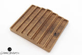 Handmade Schimmel Pen Tray - Available in Walnut wood or Cherry wood - Holds 7 pens - Wood Pen Display - Wood Pen Organizer
