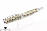 Handmade Schimmel Pen - Rollerball Pen with 1920's Vintage Pennsylvania Gold Mining Co Stock - Comes in gift box