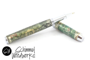 Handmade Schimmel Pen - Rollerball Pen with 1890's Vintage Woodruff Sleeping Parlor Coach Co Stock - Comes in gift box