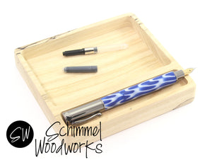 Handmade Schimmel Pen Tray-  Limited Edition Spalted Maple Wood- One of a kind hard wood pen display - Stunning Spalted Maple wood