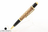 Handmade Schimmel Ballpoint Pen - Maple & Walnut wood scales pen - Comes in gift box
