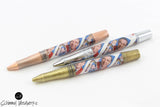 Handmade Schimmel Pen - Mister Rogers Stamps with Gun Metal, Chrome, Antique Brass or Antique Copper - Comes in gift box