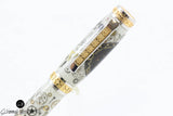 Handmade Schimmel Fountain Pen - Vintage Breitling Watch Parts Pen on Carbon Fiber with stunning gold detail - Fountain Pen - In gift box