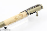 Handmade Schimmel Pen - Bolt Action Bullet Pen - Duck engraved on Maple Wood with Antique Brass accents - Comes in gift box