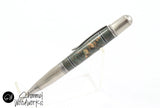 Handmade Schimmel Ballpoint Pen - Phoenix Pen with stunning acrylic swirls - comes in Antique Brass or Antique Pewter - Comes in gift box
