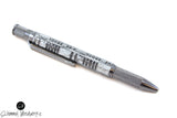 Handmade Schimmel Pen - Industrial Steampunk Metal Aluminum with Chrome or Gun metal accents - Comes in gift box