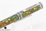 Handmade Schimmel Fountain Pen - Polymer Clay Dragon Scales with Black Titanium & Rhodium metal plating - Comes in gift box