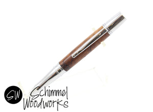 Handmade Schimmel Ballpoint Pen - Beautiful Burl Wood paired with chrome metal body. Comes in gift box! Makes a great gift!