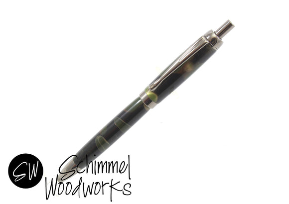 Handmade Schimmel Click Pen - Camouflage pattern with Gun Metal - Comes in gift box