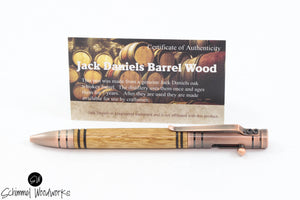 Handmade Schimmel Pen - Bolt Action Pen - Jack Daniels Whiskey Barrel Wood - Comes in gift box