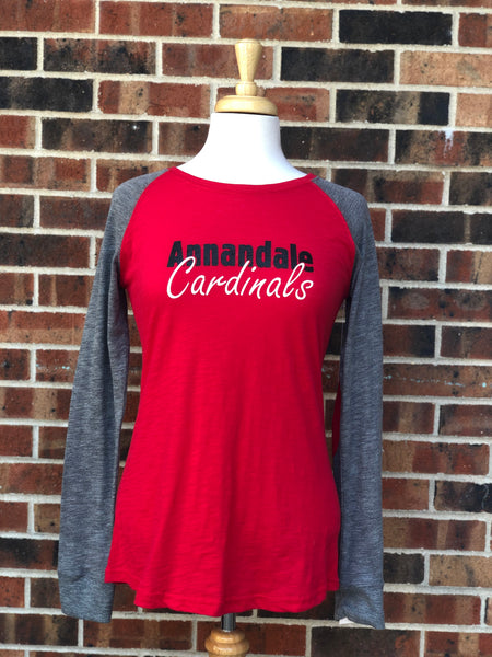Annandale Cardinal Preppy Patch Long Sleeve Tee