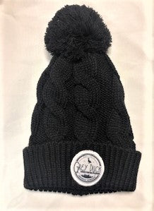 Grey Duck Twist knit Beanie