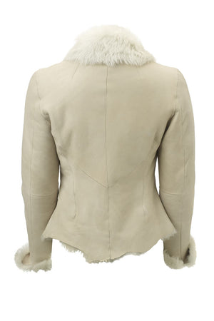 Nappa Shearling Fitted Jacket