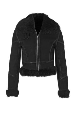Lambskin Bomber Jacket with Trim