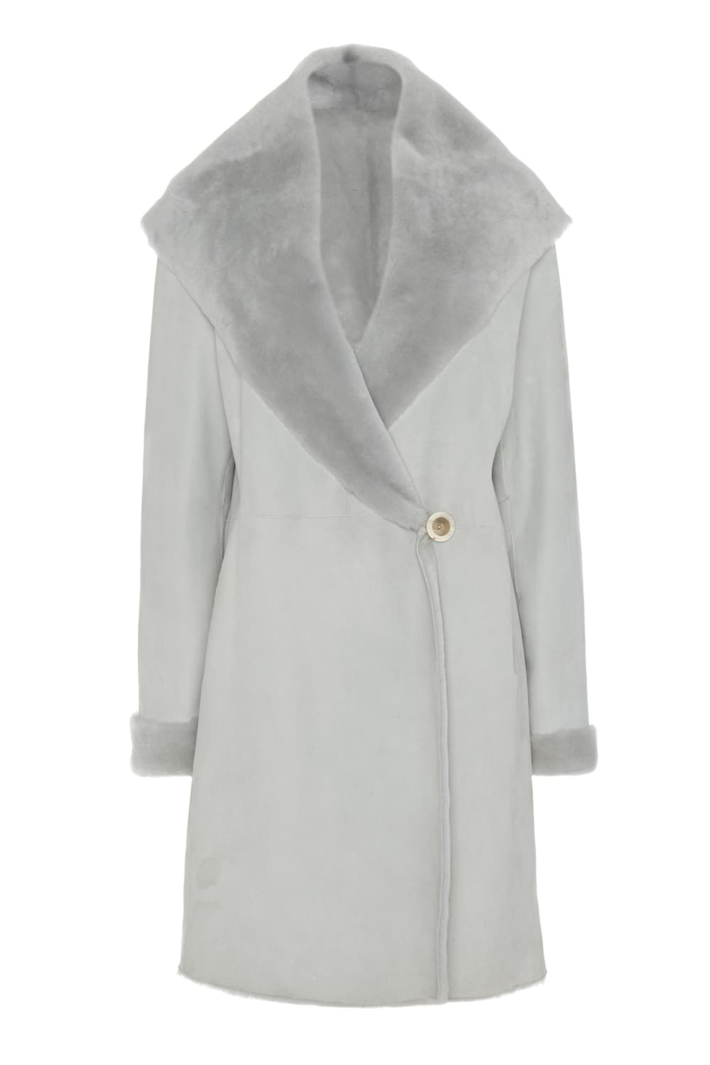 Cocoon Shearling Coat