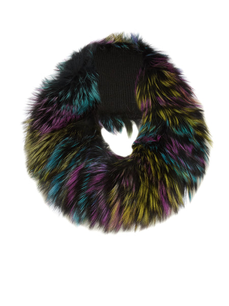 Multi-Coloured Fox Fur Snood