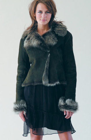 Tipped Fur Short Jacket