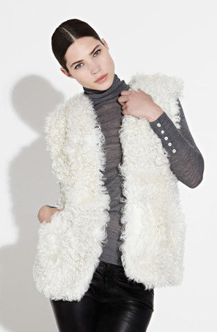 Winter White Mongolian Gilet