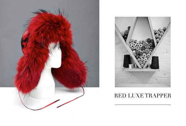 Red Luxe Trapper Hat