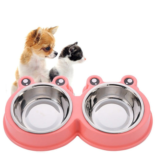 Double Pet Bowls Feeding/Drinking Tool