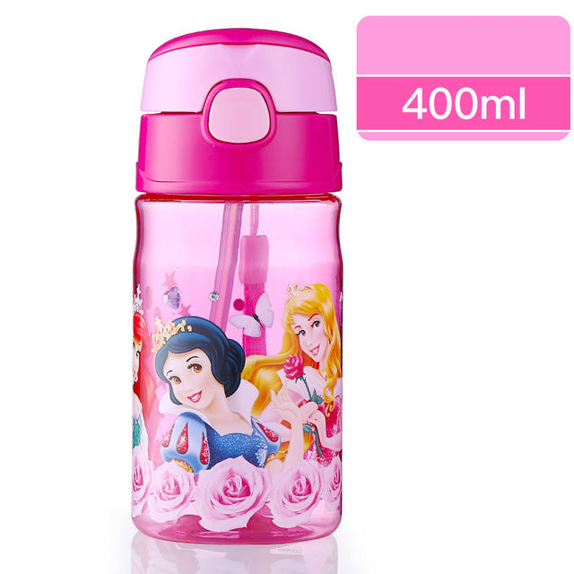 Disney Cartoon Bottle Built-in Straw