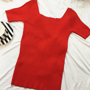 Bow Stretchy T shirts - ONE SIZE