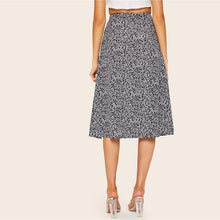 Load image into Gallery viewer, Floral Button Side Split Midi Skirt