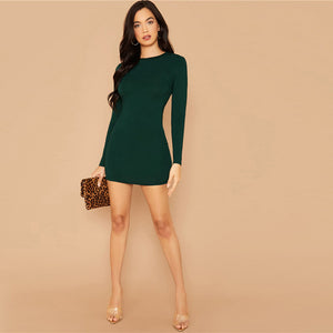 Contrast Lace Insert Backless Mini Dress