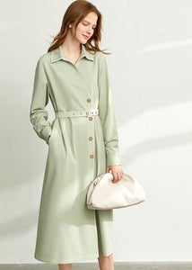 French chiffon shirt dress