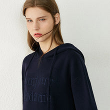 Load image into Gallery viewer, Embroidery Letter Loose Full Sleeve Hoodie