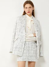 Load image into Gallery viewer, Temperament Plaid Tweed Jacket & High Waist Aline Mini Skirt