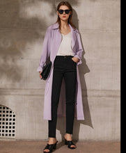 Load image into Gallery viewer, Lapel Patchwork Double Breasted Trench Coat