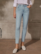 Load image into Gallery viewer, Lady High Waist Slim Ankle Pants