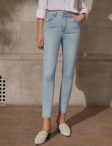 Lady High Waist Slim Ankle Pants
