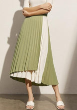 Load image into Gallery viewer, Patchwork Aline Pleated Wavy Skirt