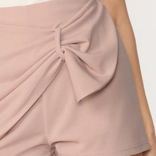 Load image into Gallery viewer, Pink Loop Detail Zipper Back Wrap Solid Shorts