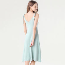 Load image into Gallery viewer, Crepe Cut Out Scallop Hem Knee Length Neon Dress