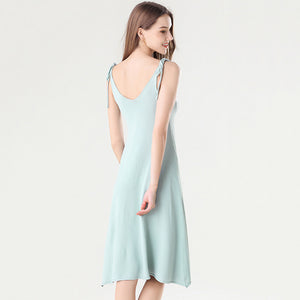 Crepe Cut Out Scallop Hem Knee Length Neon Dress