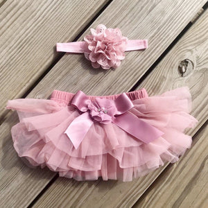 Vintage Pink bloomer and headband Set