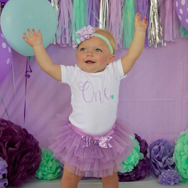 First Birthday Outfit Girl Purple