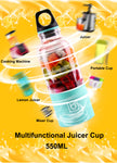 550ml Portable Electric USB Juicer Cup Rechargeable