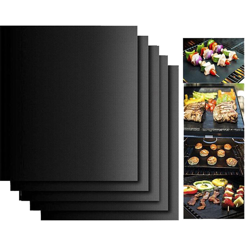 5Pcs/set Reusable BBQ Non Stick Grill Mat Sheet