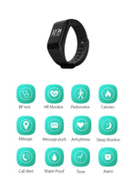 Health And Fitness - LUOKA Fitness Tracker Wristband Heart Rate Monitor Smart Bracelet F1 Smartbracelet Blood Pressure With Pedometer Bracelet